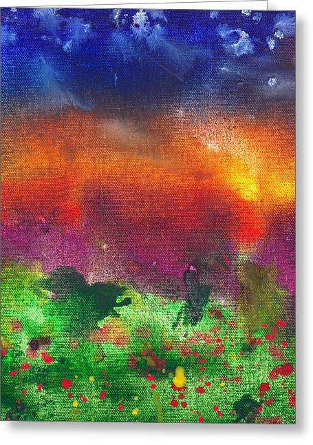 Good Energy Greeting Cards - Abstract - Crayon - Utopia Greeting Card by Mike Savad
