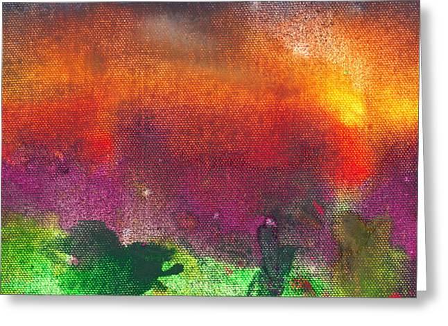 Abstract - Crayon - Utopia Greeting Card by Mike Savad