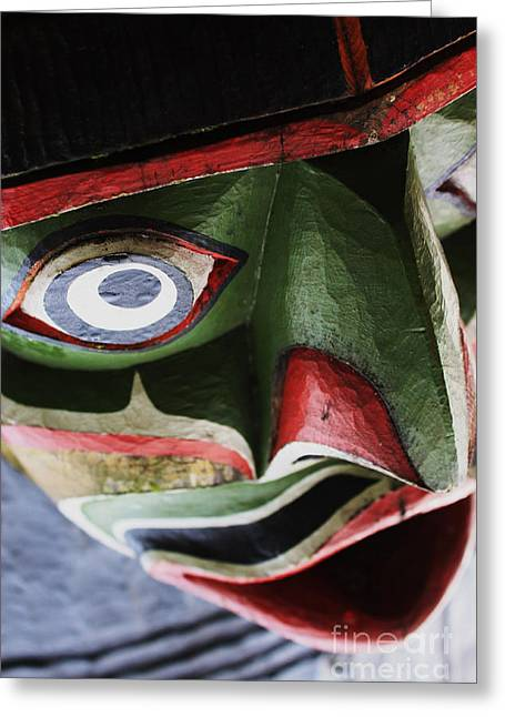 Art Sale Sculptures Greeting Cards - Abstract Crazy Face Greeting Card by Sue Harper