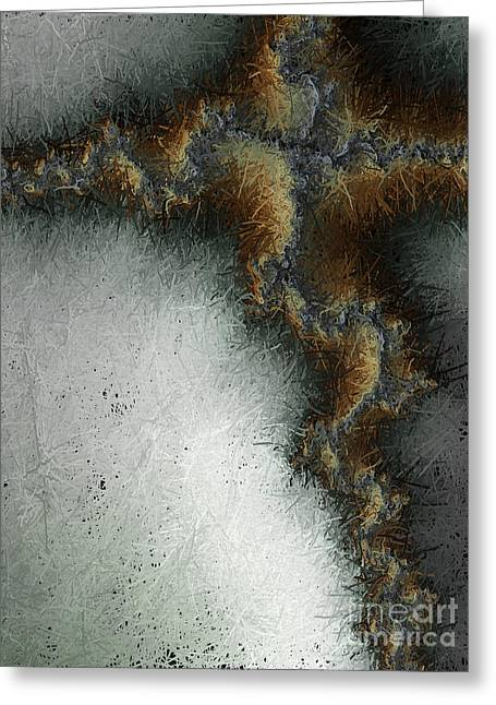 Christ Artwork Digital Art Greeting Cards - Abstract Cross I  Greeting Card by Heidi Smith