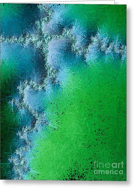 Religious work Digital Greeting Cards - Abstract Cross Ill  Greeting Card by Heidi Smith