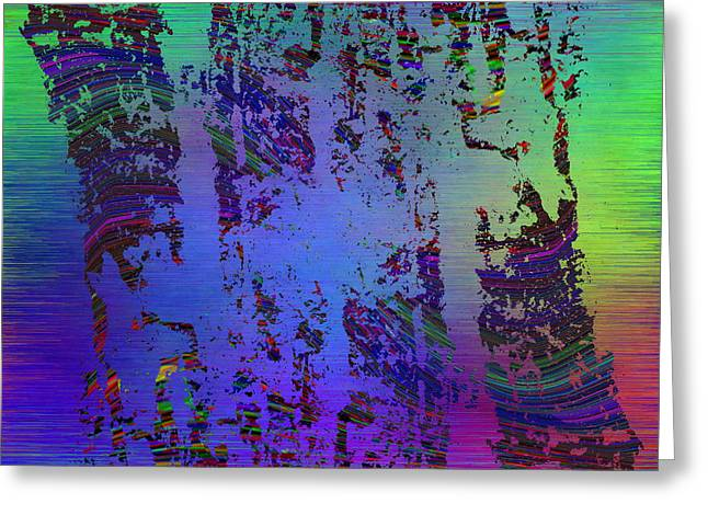 Rectangles Greeting Cards - Abstract Cubed 147 Greeting Card by Tim Allen