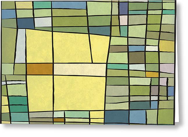 Decorative Greeting Cards - Abstract Cubist Greeting Card by Gary Grayson