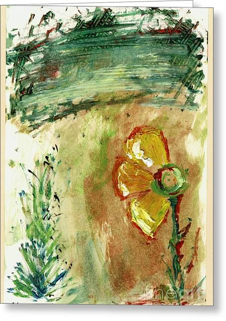 Abstract Daisy Greeting Card by Cathy Peterson
