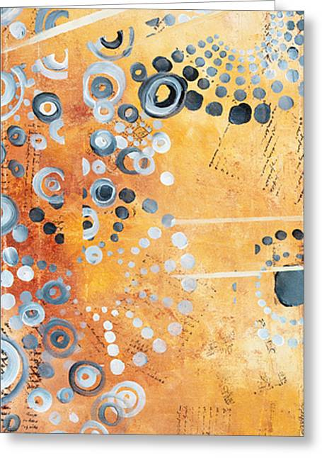 Modern Abstract Paintings Greeting Cards - Abstract Decorative Art Original Circles Trendy Painting by MADART Studios Greeting Card by Megan Duncanson