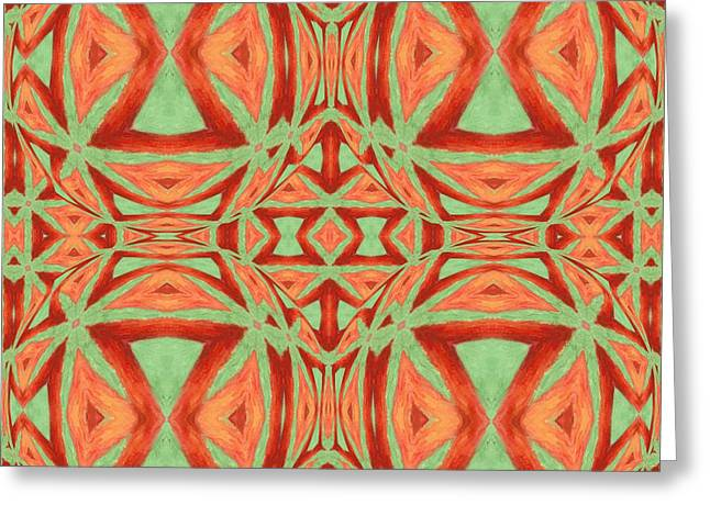 Jeff Greeting Cards - Abstract Design 1 Greeting Card by Jeff Kolker