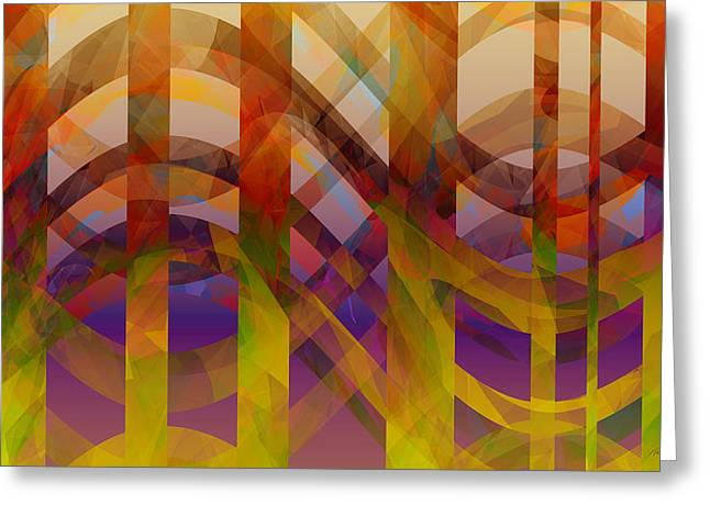 Geometric Digital Art Greeting Cards - Abstract Design  Greeting Card by Ann Powell