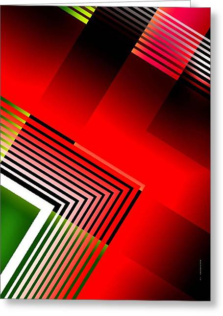 Transparency Geometric Greeting Cards - Abstract Design with Parallel lines Greeting Card by Mario  Perez