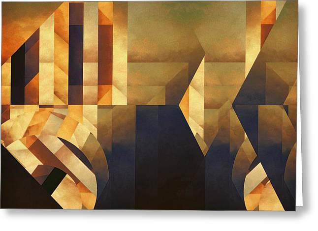 Sorrow Digital Art Greeting Cards - Abstract Dimension Greeting Card by LC Bailey