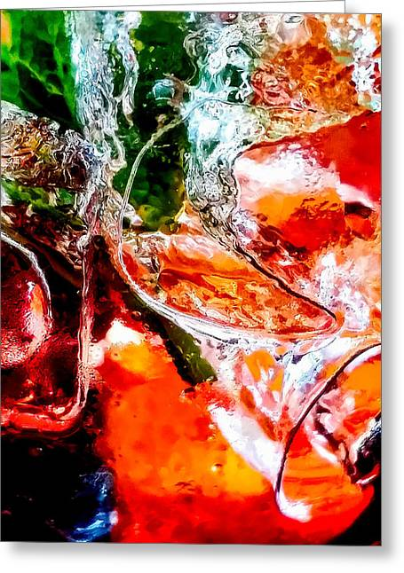 Abstract Drink Greeting Card by Christopher Holmes