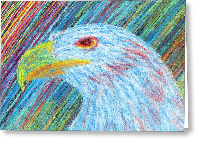 Eagle With Red Eye Greeting Cards - Abstract Eagle With Red Eye Greeting Card by Kenal Louis