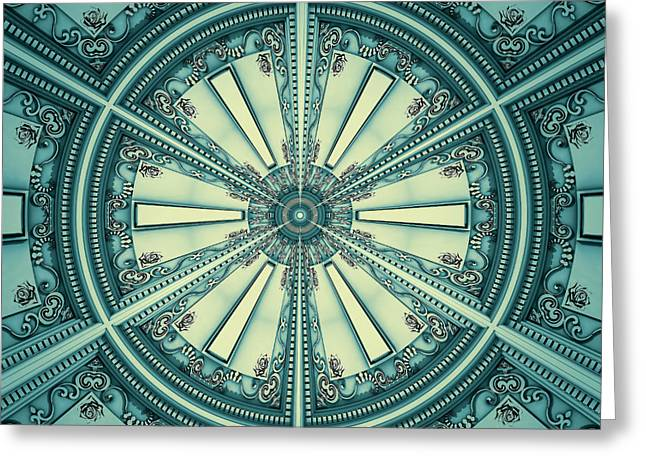 Reform Digital Greeting Cards - Abstract Eclectic House Interior Of Roof 03 Greeting Card by Nenad  Cerovic