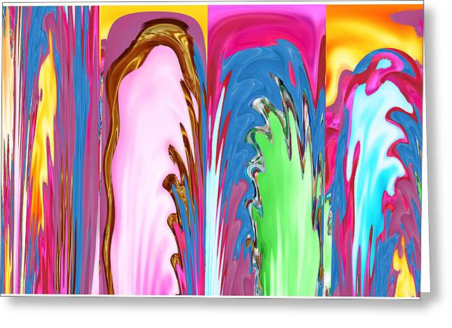 Marathon Champion Greeting Cards - ABSTRACT Emotional Stages  Confusion Disbelief Grief Anger Walkaway Greeting Card by Navin Joshi