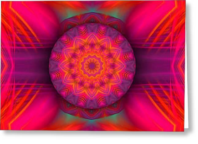 Modern Digital Art Digital Art Greeting Cards - Abstract Energy Greeting Card by Hanza Turgul