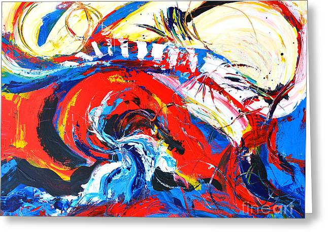 Abstract Expressionist Greeting Cards - Abstract Expressionism No. 2 Greeting Card by Patricia Awapara