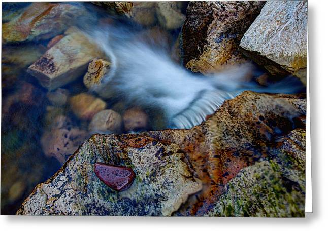 Hike Greeting Cards - Abstract Falls Greeting Card by Chad Dutson