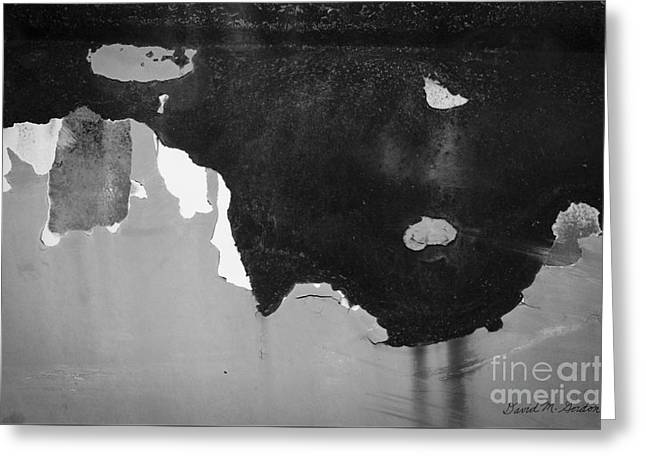 Abstract Fender I Greeting Card by Dave Gordon