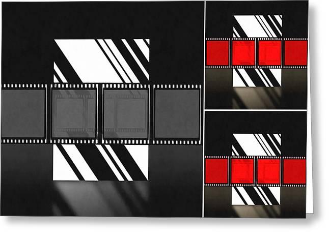 Movie Greeting Cards - Abstract Film Greeting Card by Georgiana Romanovna