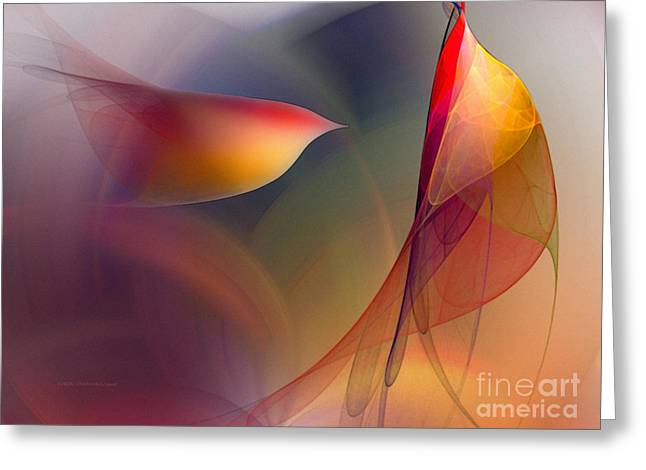 Abstract Fine Art Print Early In The Morning Greeting Card by Karin Kuhlmann