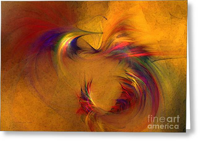 Abstract Expression Greeting Cards - Abstract Fine Art Print High Spirits Greeting Card by Karin Kuhlmann