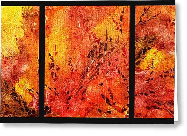 D Greeting Cards - Abstract Fireplace Greeting Card by Irina Sztukowski