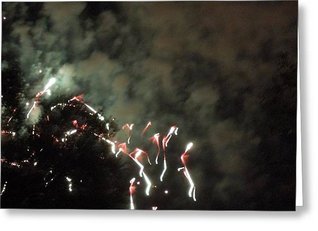Photography Galleries On Line Greeting Cards - Abstract Fireworks Greeting Card by Ron Davidson