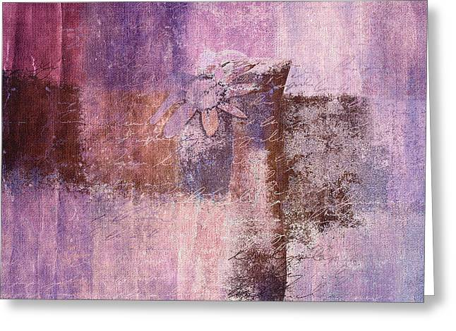 Purple Abstract Greeting Cards - Abstract Floral- i55bt2 Greeting Card by Variance Collections