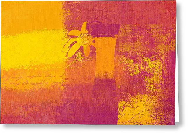 Flower Still Life Greeting Cards - Abstract Floral - m31at1b Greeting Card by Variance Collections