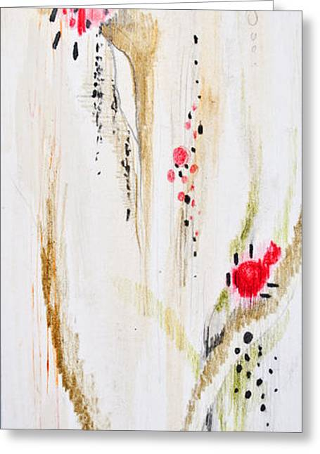Original Art Photographs Greeting Cards - Abstract floral painted background Greeting Card by Aleksandar Mijatovic