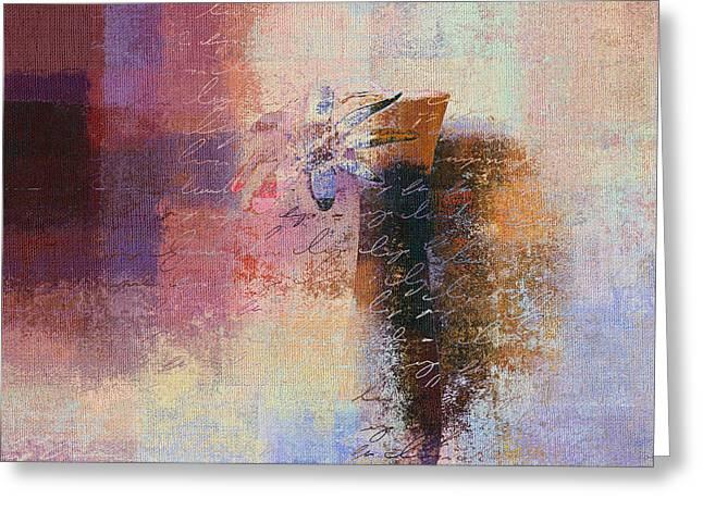 Purple Abstract Digital Art Greeting Cards - Abstract Floral - xs01bt2 Greeting Card by Variance Collections