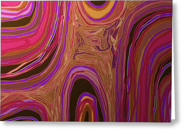 Shesh Tantry Greeting Cards - Abstract Flow Greeting Card by Shesh Tantry