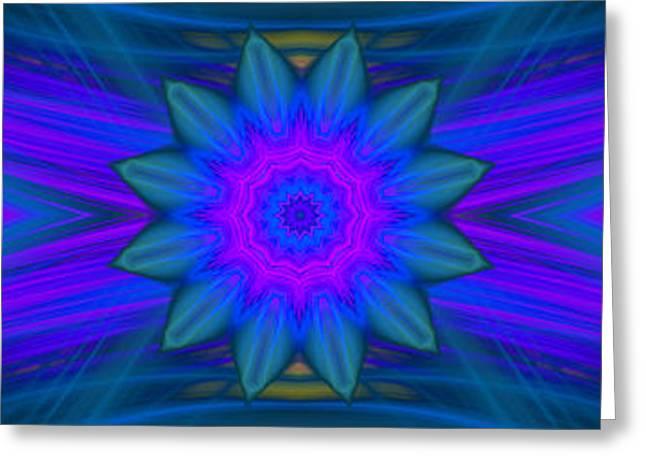Modern Digital Art Digital Art Greeting Cards - Abstract Flower Greeting Card by Hanza Turgul