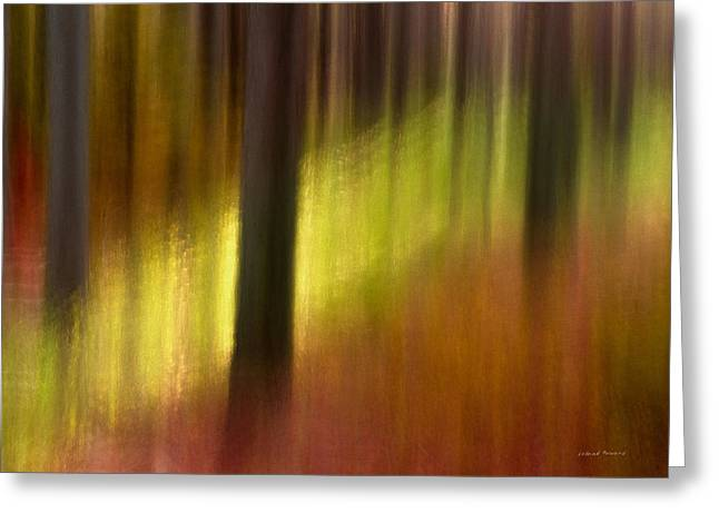 Abstract Forest 3 Greeting Card by Leland D Howard