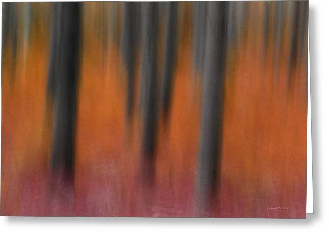 Abstract Forest 4 Greeting Card by Leland D Howard
