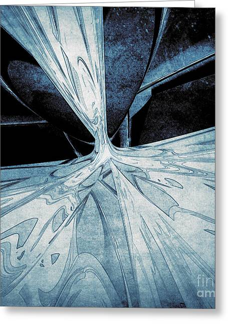 Discern Greeting Cards - Abstract Form 8 Greeting Card by Phil Perkins