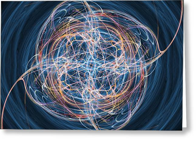 Geometric Effect Greeting Cards - Abstract Fractal Background 08 Greeting Card by Antony McAulay