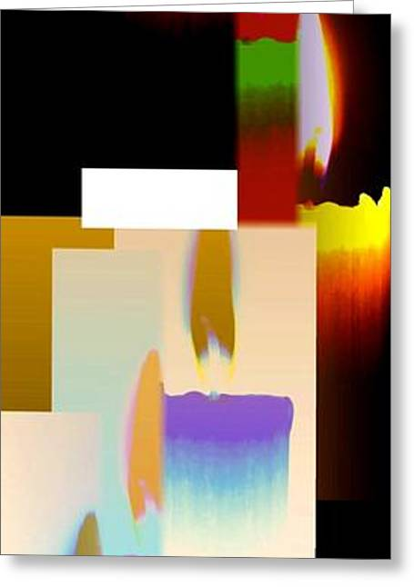 Amalgamation Greeting Cards - Abstract Fusion 185 Greeting Card by Will Borden
