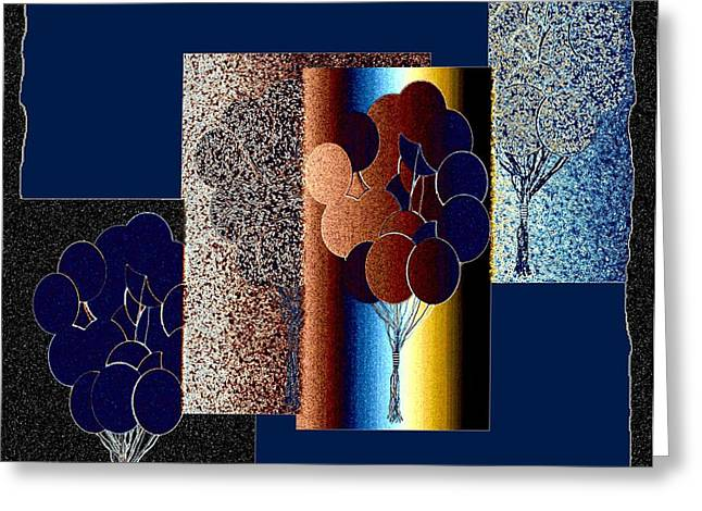 Amalgamation Greeting Cards - Abstract Fusion 191 Greeting Card by Will Borden
