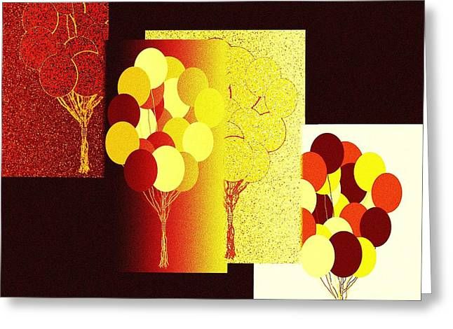 Amalgamation Greeting Cards - Abstract Fusion 192 Greeting Card by Will Borden