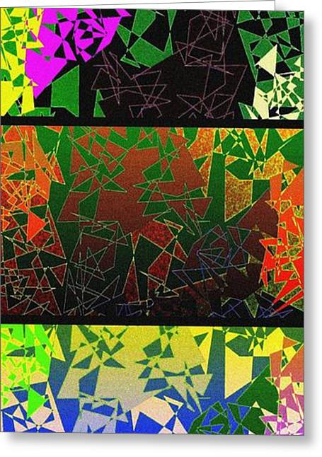 Geometric Digital Art Greeting Cards - Abstract Fusion 193 Greeting Card by Will Borden