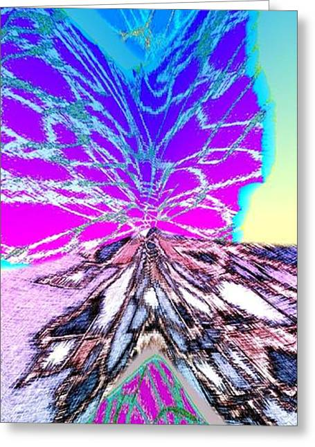 Abstract Digital Digital Greeting Cards - Abstract Fusion 196 Greeting Card by Will Borden