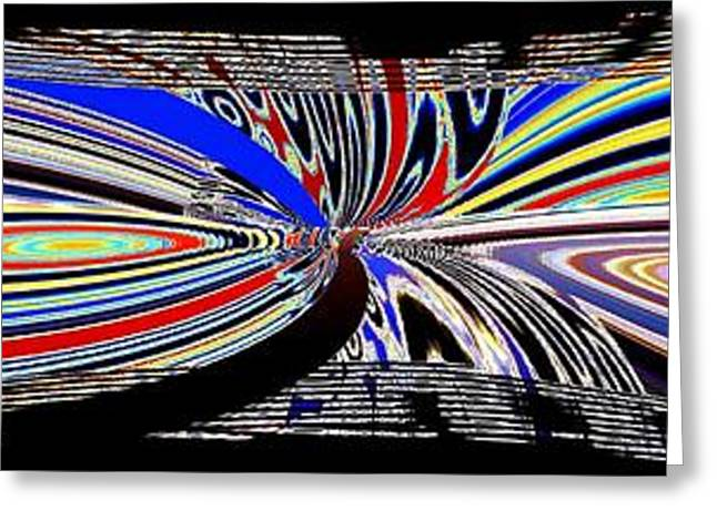 Abstract Fusion 197 Greeting Card by Will Borden