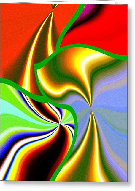 Amalgamation Greeting Cards - Abstract Fusion 200 Greeting Card by Will Borden