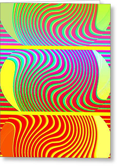 Amalgamation Greeting Cards - Abstract Fusion 205 Greeting Card by Will Borden