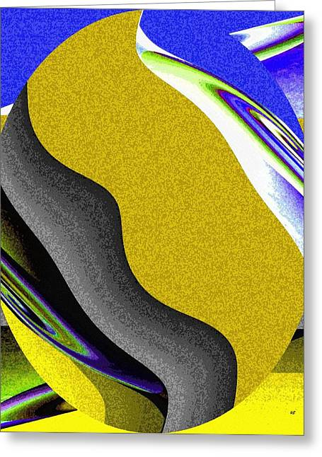 Abstract Fusion Greeting Cards - Abstract Fusion 212 Greeting Card by Will Borden