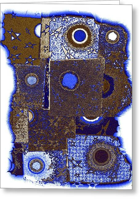 Amalgamation Greeting Cards - Abstract Fusion 225 Greeting Card by Will Borden