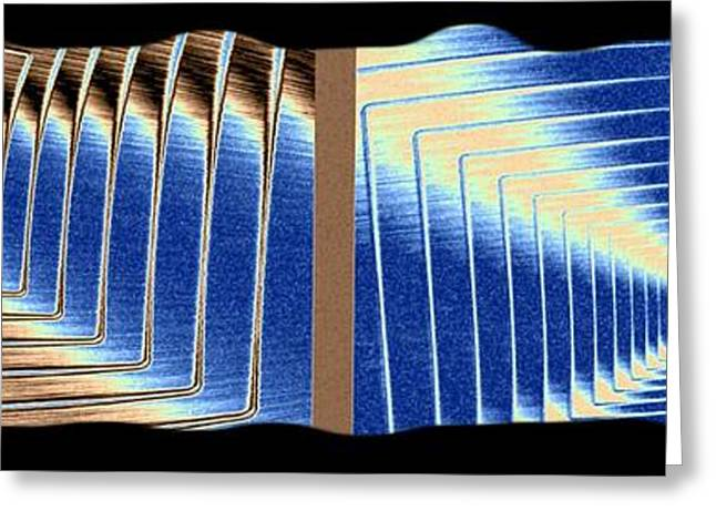 Intrigue Greeting Cards - Abstract Fusion 255 Greeting Card by Will Borden