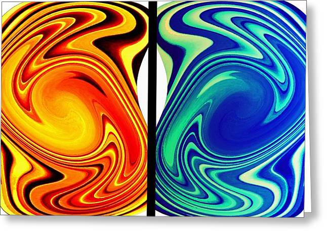 Intrigue Greeting Cards - Abstract Fusion 256 Greeting Card by Will Borden