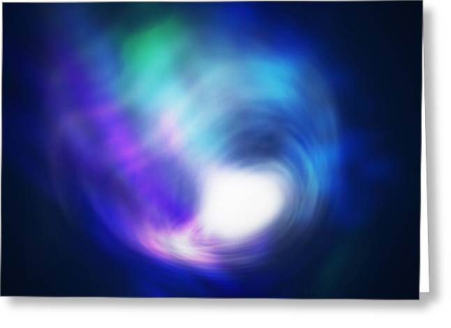 Plasma Greeting Cards - Abstract Galaxy Greeting Card by Atiketta Sangasaeng