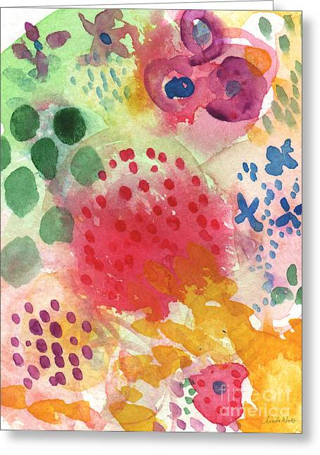 Commercial Greeting Cards - Abstract Garden #43 Greeting Card by Linda Woods